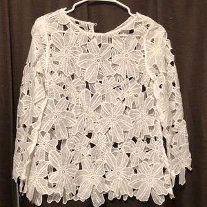 Forever 21 white floral blouse